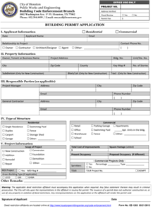 Building Permit Application Web Use